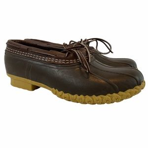 LL BEAN Leather Low Duck Boots Men's 9 M Brown